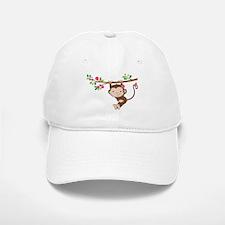 Swinging Baby Monkey Baseball Baseball Cap