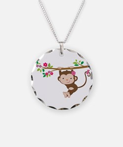 Swinging Baby Monkey Necklace