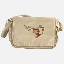 Swinging Baby Monkey Messenger Bag