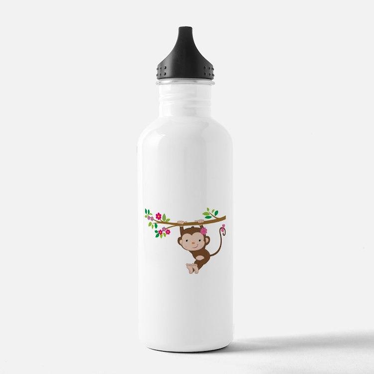 Swinging Baby Monkey Water Bottle
