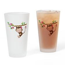 Swinging Baby Monkey Drinking Glass
