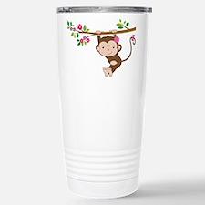 Swinging Baby Monkey Stainless Steel Travel Mug