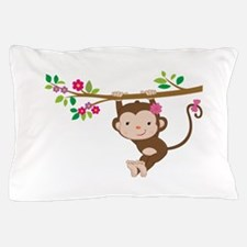 Swinging Baby Monkey Pillow Case