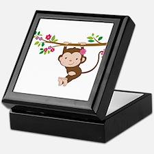 Swinging Baby Monkey Keepsake Box