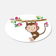 Swinging Baby Monkey Wall Decal