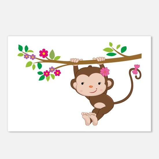 Swinging Baby Monkey Postcards (Package of 8)