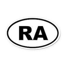 Argentina RA Oval Car Magnet