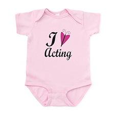 I Heart Acting Infant Bodysuit