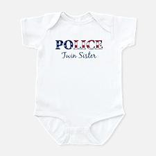 Police Twin Sister - patrioti Infant Bodysuit