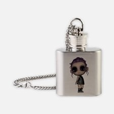 emo goth punk girl Flask Necklace