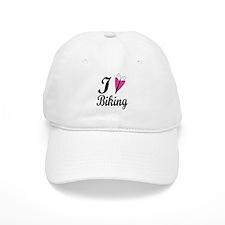 I Heart Biking Baseball Cap