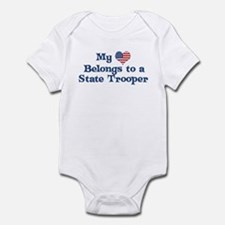 My Heart: State Trooper Infant Bodysuit