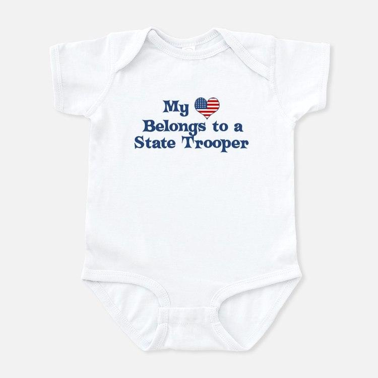 My Heart: State Trooper Infant Bodysuit