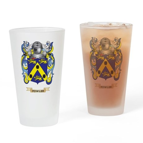 Fowler Coat of Arms Drinking Glass
