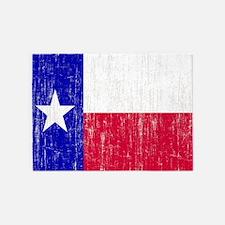 Vintage Texas Flag 5'x7'Area Rug