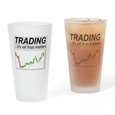 Cute Day trader Drinking Glass