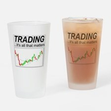 Cute Investor Drinking Glass