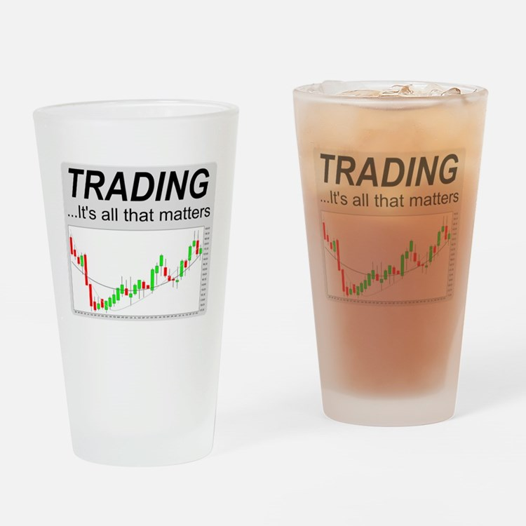 Cute Finance Drinking Glass
