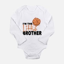 Little Brother Basketball Baby Body Suit