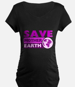 Save the earth Maternity T-Shirt