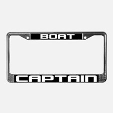 Boat Captain License Plate Frame