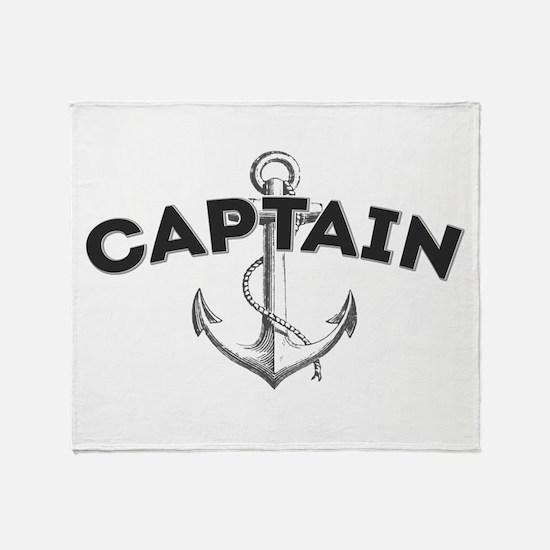 Boat Captain Throw Blanket