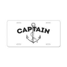 Boat Captain Aluminum License Plate