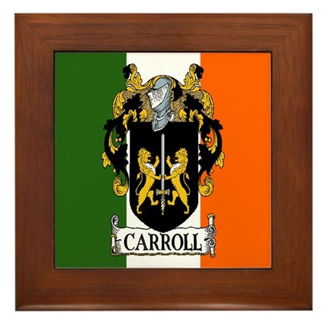 Carroll Arms Flag Framed Tile