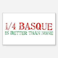 Quarter Basque Rectangle Decal