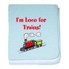 Loco for Trains-R- baby blanket