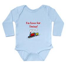 Loco for Trains-R- Long Sleeve Infant Bodysuit