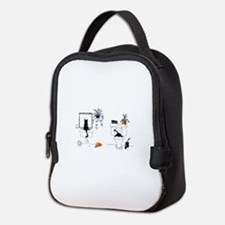 Two Cats In The Bath Neoprene Lunch Bag