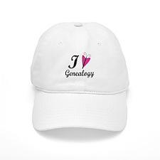 I Heart Genealogy Baseball Cap