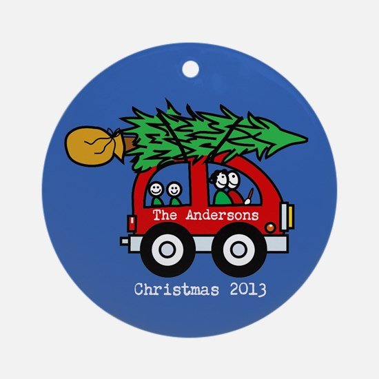 Personalized Family Christmas Ornament 2 kids