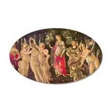 Primavera by Botticelli 20x12 Oval Wall Decal