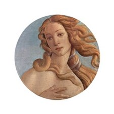 "Birth of Venus by Botticelli 3.5"" Button"