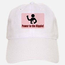 Power to the Nipple Baseball Baseball Baseball Cap