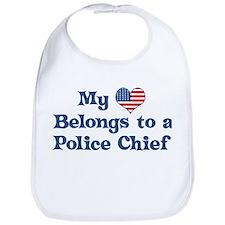 My Heart: Police Chief Bib
