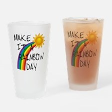 Rainbow Day Drinking Glass