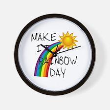 Rainbow Day Wall Clock