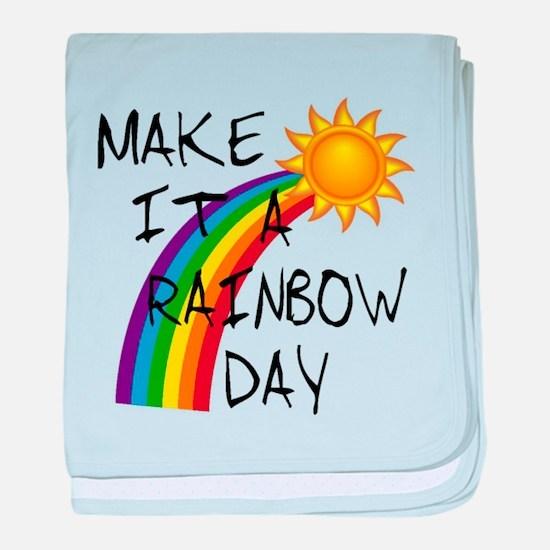 Rainbow Day baby blanket