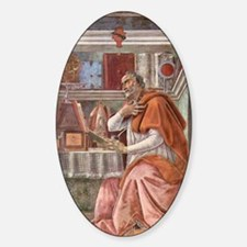 Augustine of Hippo by Botticelli Sticker (Oval)