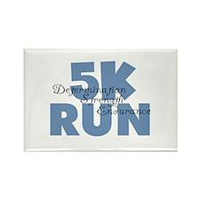5K Run Blue Rectangle Magnet