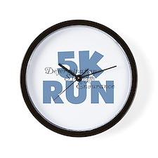 5K Run Blue Wall Clock