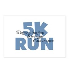 5K Run Blue Postcards (Package of 8)
