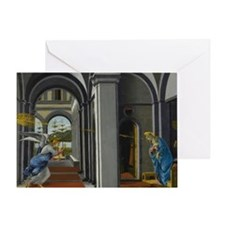 Annunciation by Botticelli Greeting Card