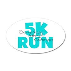 5K Run Aqua 20x12 Oval Wall Decal