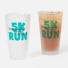 5K Run Aqua Drinking Glass