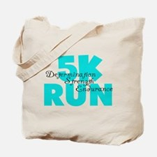 5K Run Aqua Tote Bag