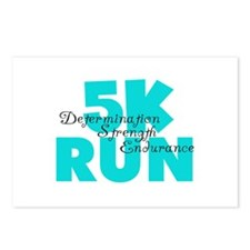 5K Run Aqua Postcards (Package of 8)